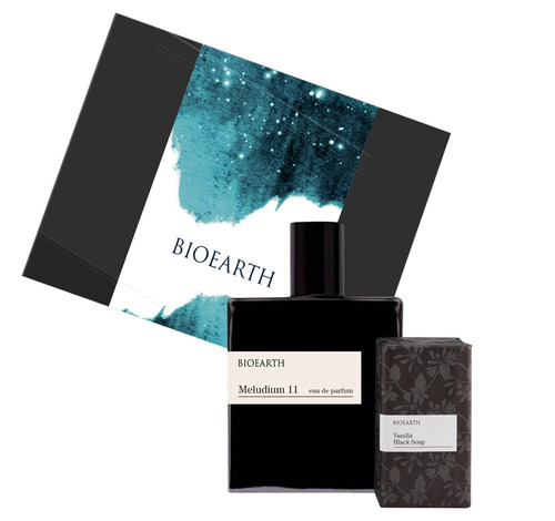 Cofanetto Bioearth MELUDIUM 11 eau de parfum for him 100ml vanilla black soap 300gr